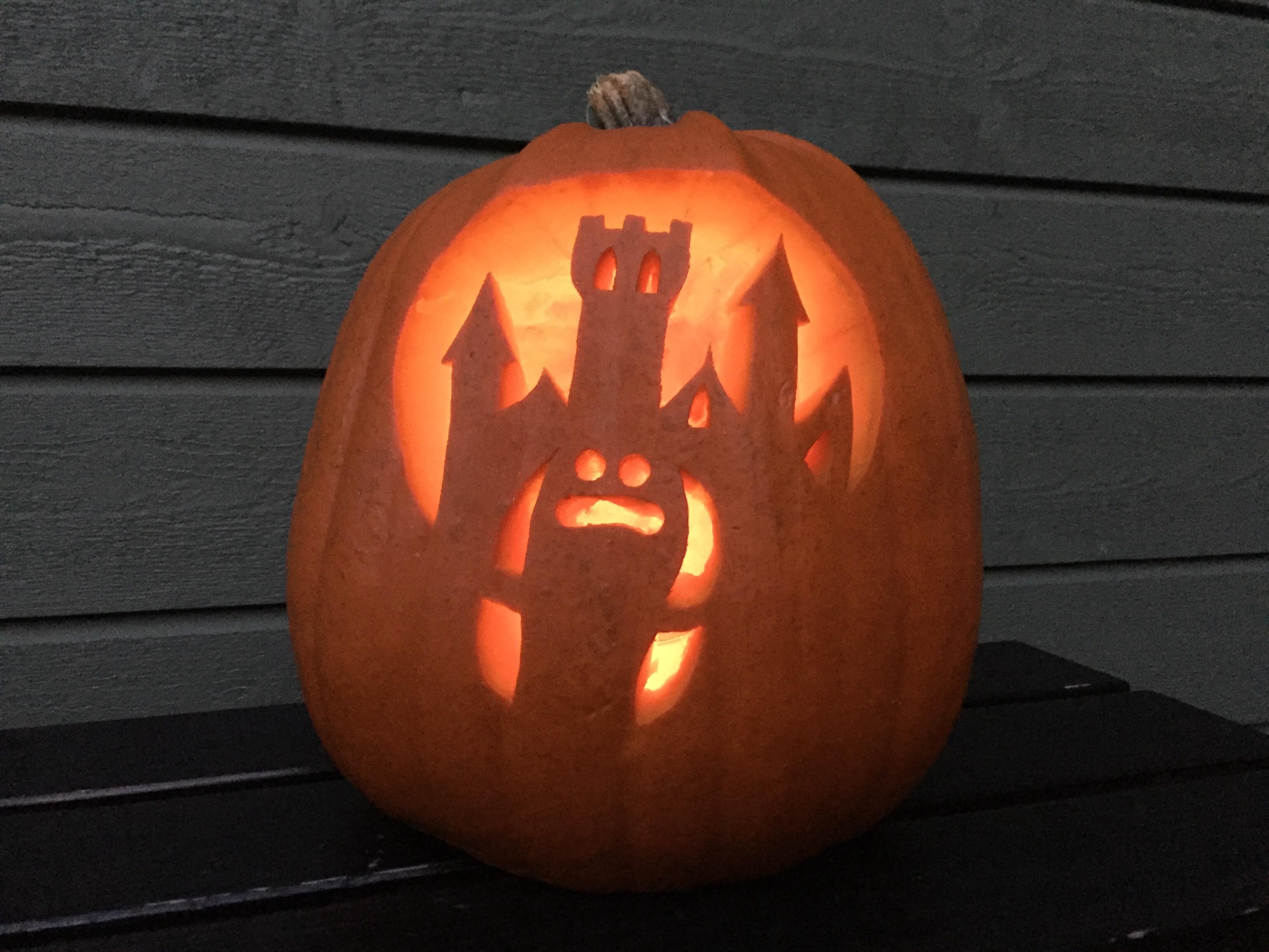 Halloweenpumpa spökslott